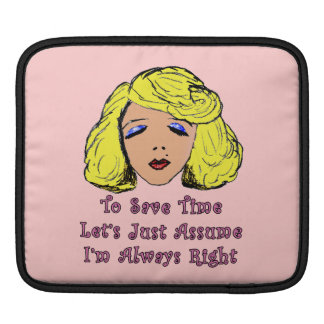 El chica rubio del encanto ahorra el tiempo siempr funda para iPads