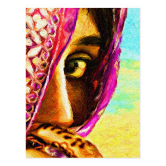 El chica tímido tarjeta postal