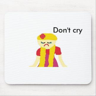el chica triste, no llora tapetes de ratón