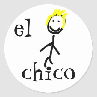 el chico Spanish Sticker