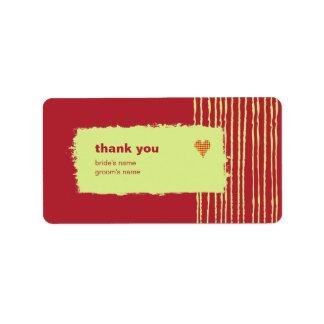 El chile le agradece pegatina del regalo etiquetas de dirección
