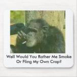 el chimpancé-con-fumar-problema, pozo usted Rath… Tapetes De Ratón