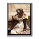 El chimpancé de Bouguereau en vestido Postal