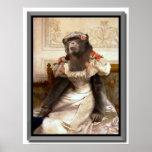 El chimpancé de Bouguereau en vestido Poster