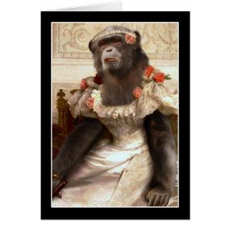 El chimpancé de Bouguereau Tarjeton