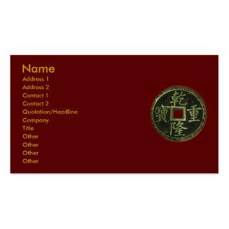 El chino acuña la tarjeta de visita