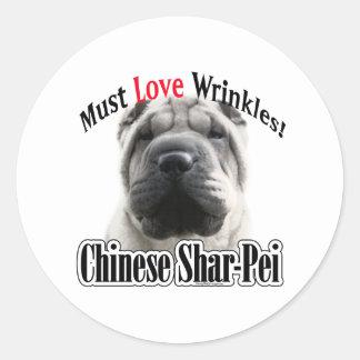 El chino Shar-Pei debe amar las arrugas - pegatina