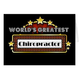 El Chiropractor más grande del mundo Tarjeta De Felicitación