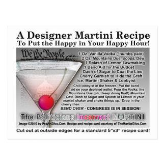 El chiste incorrecto Martini RecipePostcard del Tarjetas Postales