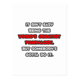 El chiste más grande del farmacéutico del mundo tarjetas postales