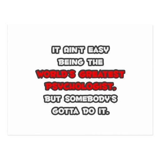 El chiste más grande del psicólogo del mundo tarjeta postal