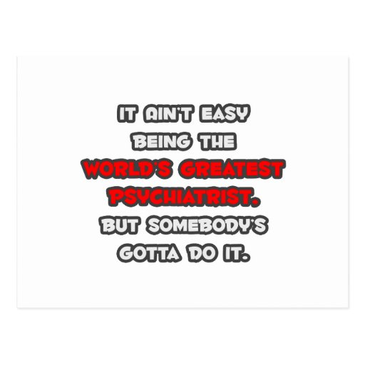 El chiste más grande del psiquiatra del mundo tarjetas postales