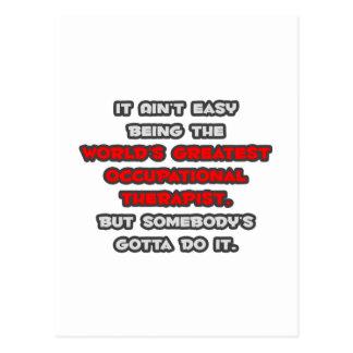 El chiste más grande del terapeuta profesional del tarjeta postal