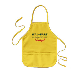 El chiste no maduro del centro comercial de Wal so Delantal Infantil