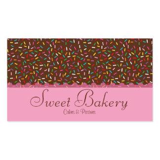 El chocolate asperja la panadería tarjetas de visita