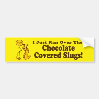 El chocolate cubrió a la pegatina para el parachoq pegatina para auto