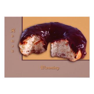 El chocolate cubrió el buñuelo invitación personalizada