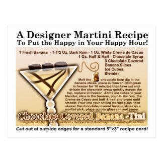El chocolate cubrió la postal de la receta de Mart