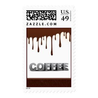 EL CHOCOLATE DEL CAFÉ GOTEA EL GRÁFICO DELICIOSO SELLO