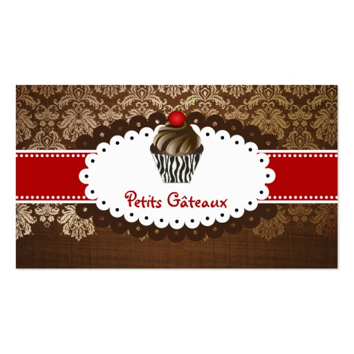 El chocolate elegante de PixDezines remolina magda Plantilla De Tarjeta Personal