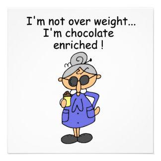 El chocolate enriqueció humor invitaciones personalizada