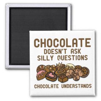 El chocolate entiende el imán divertido del refrig