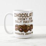 El chocolate entiende la taza divertida