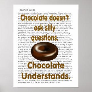 El chocolate entiende poster