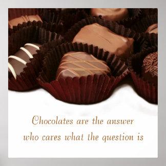 El chocolate es el sentimiento y la imagen de la póster