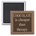 El chocolate es más barato que el imán cuadrado de