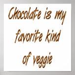 El chocolate es mi clase del favorito de Veggie Impresiones