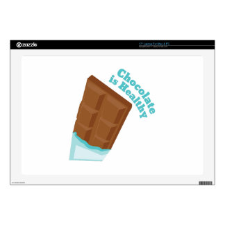 El chocolate es sano calcomanías para portátiles
