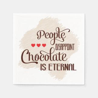 El chocolate es servilletas de papel eternas