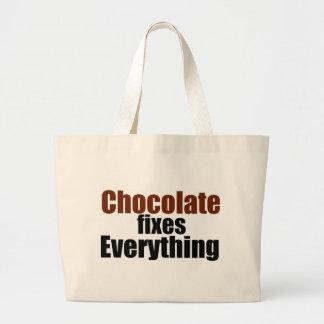 El chocolate fija todo bolsa tela grande