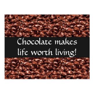 El chocolate hace vida digno de las postales vivas