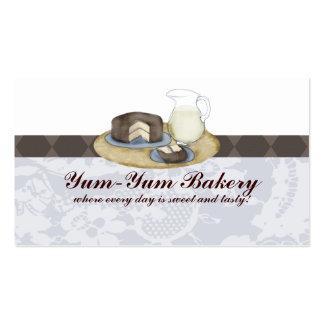 El chocolate heló busine de la hornada de la leche plantilla de tarjeta de negocio