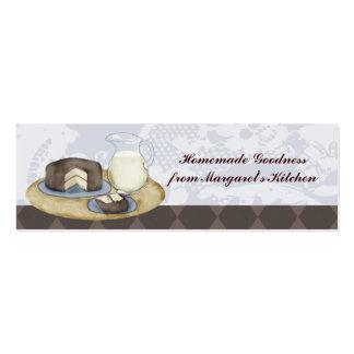 El chocolate heló etiquetas del regalo de la horna plantilla de tarjeta personal