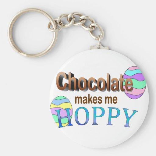 El chocolate me hace de lúpulo llavero personalizado