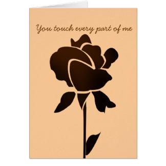 el chocolate subió, usted toca a cada parte de mí tarjeta de felicitación