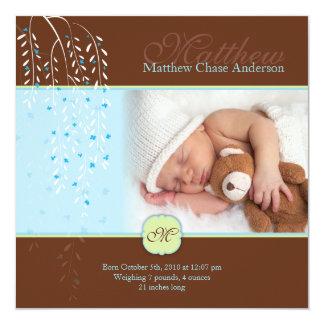 El chocolate susurra la invitación del bebé invitación 13,3 cm x 13,3cm