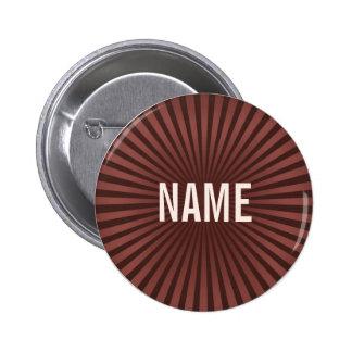 El chocolate trabaja el botón conocido pin redondo de 2 pulgadas