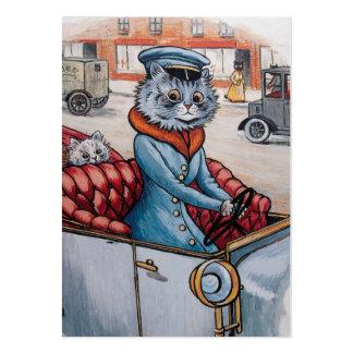El chófer del gato - bilateral tarjetas de visita grandes