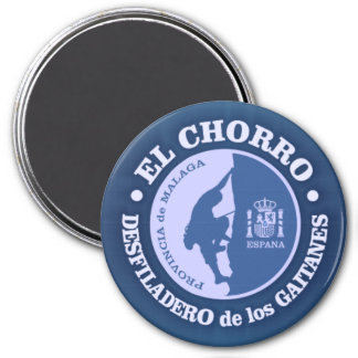 EL Chorro (el subir) Imán Redondo 7 Cm