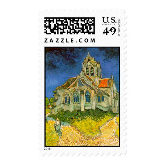 "El Chruch de Van Gogh ""en Auvers "" Estampilla"