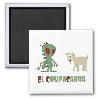 El Chupacabra 2 Inch Square Magnet