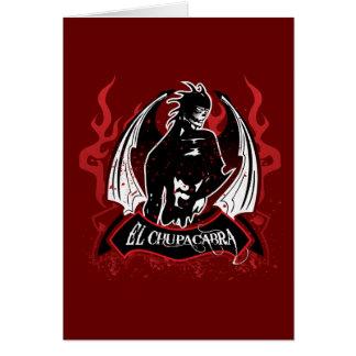 El Chupacabra - The Goat Sucker Card