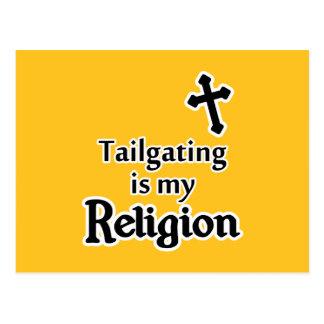 El chupar rueda es mi religión en cualquier color postales