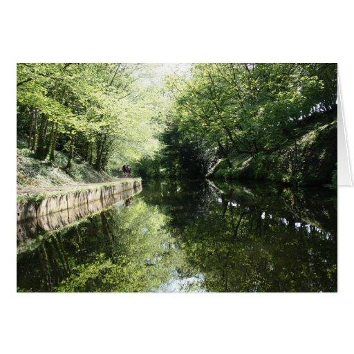 El ciclo adentro Chirk el canal Notecard de Llango Tarjeton