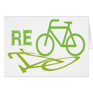 El ciclo, bicicleta, recicla tarjetón