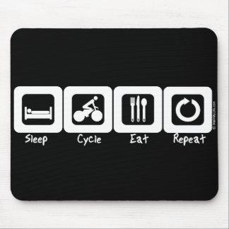 El ciclo del sueño come la repetición tapete de raton